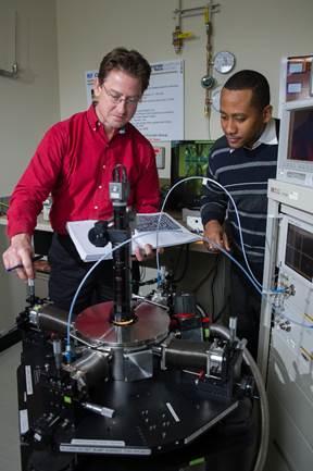 Georgia Tech Professor John D. Cressler and graduate student Adilson S. Cardoso