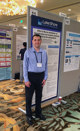 Dr. Cosmin Radu presenting a poster at MMM in Hawaii
