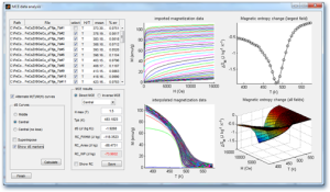 Screenshot of the MCE software