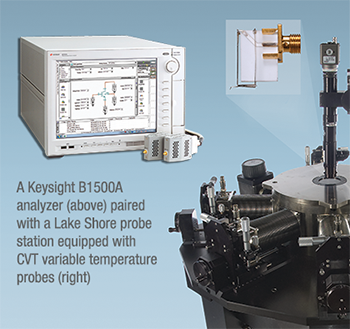 Continuously variable temperature measurements with a Keysight analyzer and a Lake Shore probe station